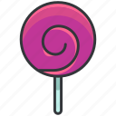 dessert, food, lolli, lollipop, sweet icon