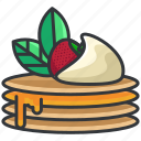 breakfast, food, pancake, pancakes, strawberry icon