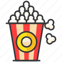 cinema, entertainment, food, popcorn, snack icon