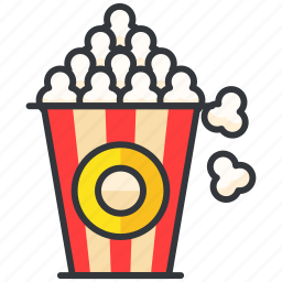 cinema, entertainment, food, popcorn, snack icon
