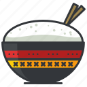 asian, bowl, food, meal, rice icon