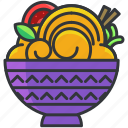 bowl, food, meal, noodles, salad icon