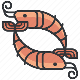 fish, food, meal, seafood, shrimp icon