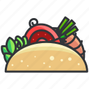 food, sandwich, taco, wrap icon