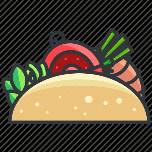 food, sandwich, taco, wrap icon