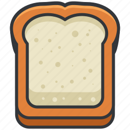 bread, food, pastry, toast, wheat icon