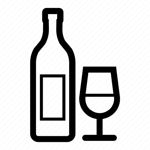 alcohol, glass, red, white, wine icon