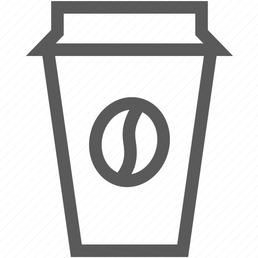 beverage, coffee, coffee bean, cup icon