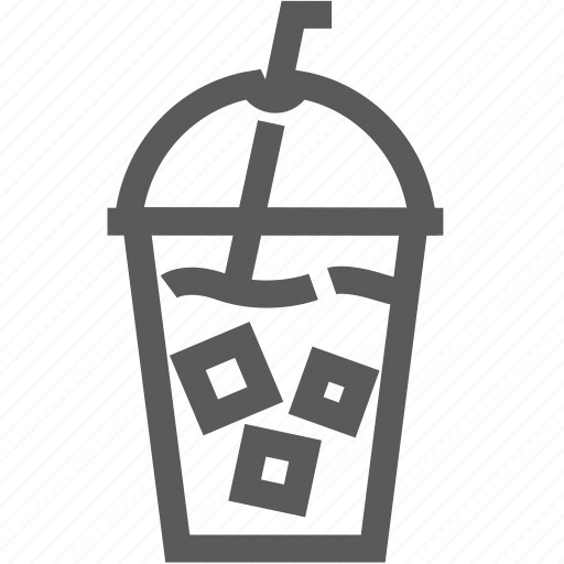 beverage, coffee, drink, ice, juice, straw, water icon