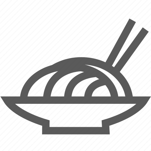 chopsticks, cooking, dish, noodle, plate icon