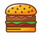 burguer, dinner, fast food, food, hamburguer, meat icon