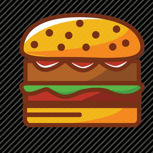 burguer, dinner, fast food, food, hamburguer, meat icon