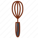 baking, cooking, kitchen, whisk icon