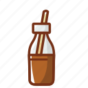 bottle, chocolate, drink, food, glass, milk icon