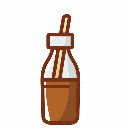 bottle, chocolate, drink, food, glass, milk icon