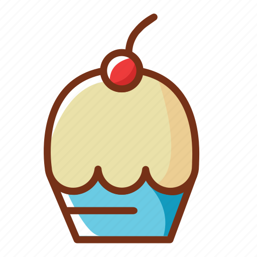 cherries, cream, dessert, food, ice cream, sweet icon