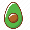 avocado, food, health, nutrition, vegetables icon