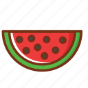 food, fruit, health, nutrition, watermelon icon