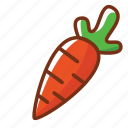 carrot, food, health, nutrition, vegetables icon
