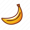 banana, breakfast, dinner, food, fruit, health, nutrition icon