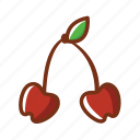 cake, cherries, dessert, food, fruits icon