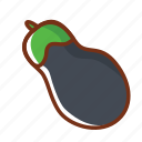 breakfast, dinner, eggplant, food, health, luncg, vegetable icon