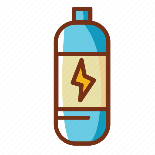 bottle, drink, energy, food, power icon