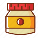 cream, food, jam, mayonnaise, salad cream icon