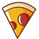 chesse, dinner, fast food, food, peperoni, pizza icon