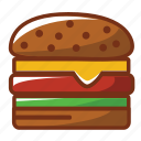 burguer, cheeseburguer, fast food, food, hamburguer icon