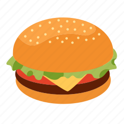 beef, beefburger, burger, cooking, fast food, sandwich, snack icon
