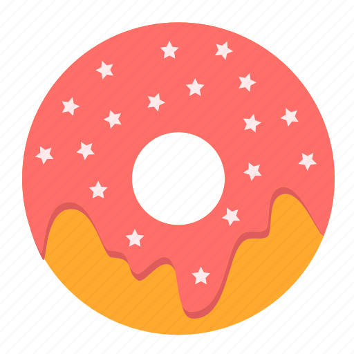 dessert, doughnut, fast food, food, icing, snack, sweet icon