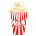 cinema, film, food, movie, popcorn, snack icon