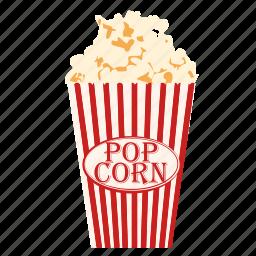 cinema, film, food, movie, popcorn, snack icon