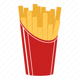 chips, cook, fast food, fried potato, macdonald, potatoe, snack icon