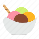 dessert, food, fruit, ice cream, restaurant, snack, sweets icon
