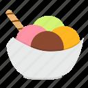 dessert, food, ice cream, snack, sweets, fruit, restaurant