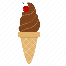 cherry, chocolate, chocolate ice cream, dessert, ice cream, snack, sweets icon