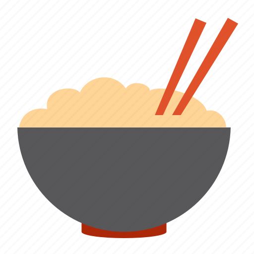 asian noodle, bowl, breakfast, chopsticks, food, meal, rise icon
