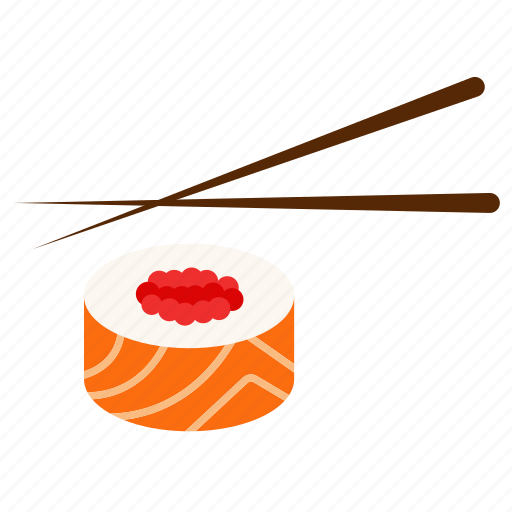 chopsticks, fish, japanese kitchen, salmon, seafood, stick, sushi icon