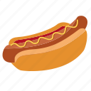 fast food, hot dog, hot-dog, ketchup, snack, bun, cooking icon