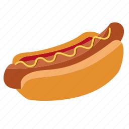 bun, cooking, fast food, food, hot dog, hot-dog, ketchup, snack icon