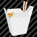 box, chinese, chopstick, food, noodles, cook, restaurant