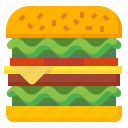 beef, burger, fast, food, hamburger, junk, sandwich icon