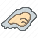food, mollusk, oyster, restaurant, sea, seafood, shell icon