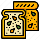 bakery, bread, breakfast, food, meal, toast icon