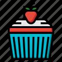 cake, cup, dessert, food, muffin, sugar, sweet icon