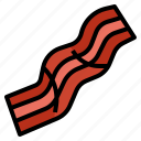 bacon, food, grilled, meat, restaurant icon