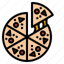 fast, food, italian, pizza, restaurant icon