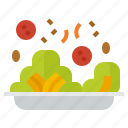 food, organic, salad, vegetable, vegetarian icon